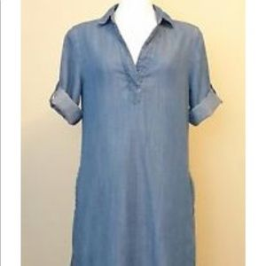 Chelsea & Theodore Dresses - Chambray dress with pockets